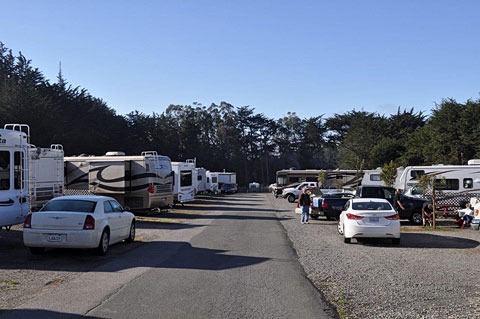 Bodega Bay RV Park road looking West